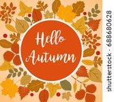 hello autumn vector...   Shutterstock .eps vector #688680628