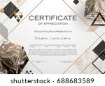 qualification certificate of... | Shutterstock .eps vector #688683589
