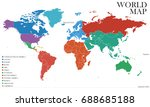 world map  vector | Shutterstock .eps vector #688685188