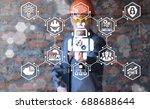 robot artificial intelligence... | Shutterstock . vector #688688644