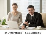 Smiling Businessman And...