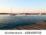 in greece near the coastline... | Shutterstock . vector #688688938
