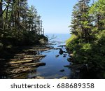 streams flowing into the sea on ... | Shutterstock . vector #688689358