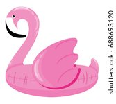 giant flamingo pool float.... | Shutterstock .eps vector #688693120