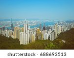 hong kong city  beautiful city... | Shutterstock . vector #688693513