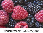 healthy organic ripe berries.... | Shutterstock . vector #688699600
