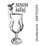 vector image of summer cocktail ... | Shutterstock .eps vector #688701694