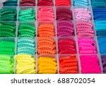 Close Up Colorful Elastic Band...