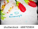 word anniversary celebration...   Shutterstock . vector #688705804