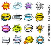 comic colorful speech bubbles... | Shutterstock .eps vector #688706260