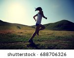 young fitness woman runner... | Shutterstock . vector #688706326