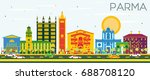 parma skyline with color... | Shutterstock .eps vector #688708120