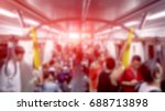 people on subway train  urban... | Shutterstock . vector #688713898