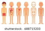 various illustration systems of ... | Shutterstock .eps vector #688715203