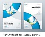 brochure template layout design.... | Shutterstock .eps vector #688718443
