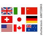 vector illustration of world... | Shutterstock .eps vector #688723843