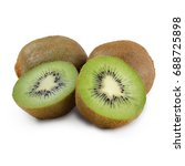 ripe kiwi isolated on white... | Shutterstock . vector #688725898