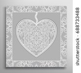 card or invitation with ornate... | Shutterstock .eps vector #688733488