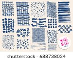 vector hand drawn textures.... | Shutterstock .eps vector #688738024