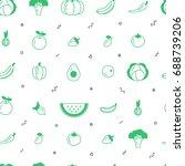 fruit and vegetable vector...   Shutterstock .eps vector #688739206