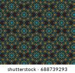 seamless vector pattern in... | Shutterstock .eps vector #688739293