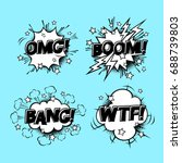 comic speech sound bubbles set...   Shutterstock .eps vector #688739803