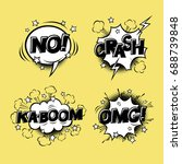 comic speech bubbles set with... | Shutterstock .eps vector #688739848