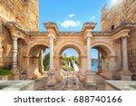 welcome to amazing antalya... | Shutterstock . vector #688740166