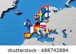 european economic area 3d... | Shutterstock . vector #688742884