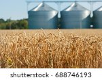agricultural silo  foregro... | Shutterstock . vector #688746193