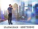 full length portrait of happy... | Shutterstock . vector #688750840