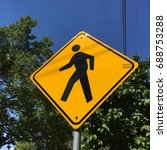 Small photo of Cross walk sign