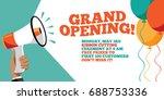 grand opening flyer  marketing... | Shutterstock . vector #688753336