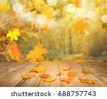 autumn forest background | Shutterstock . vector #688757743