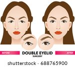 double eyelid surgery before... | Shutterstock .eps vector #688765900