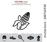 web line icon. corn | Shutterstock .eps vector #688766938