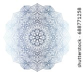 highly detailed mandala. hand... | Shutterstock . vector #688771258
