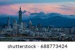 taipei's city skyline at sunset ...   Shutterstock . vector #688773424