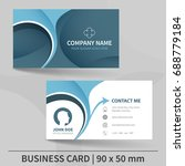 blue creative business card... | Shutterstock .eps vector #688779184