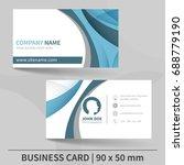blue creative business card... | Shutterstock .eps vector #688779190