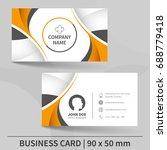 creative business card template.... | Shutterstock .eps vector #688779418