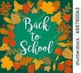 back to school vector... | Shutterstock .eps vector #688780063