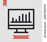 monitor vector icon ...