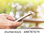 close up image of mobile device ... | Shutterstock . vector #688787674