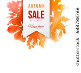 sale paper emblem over... | Shutterstock .eps vector #688788766