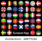 set of the buttons as flags of... | Shutterstock .eps vector #68879266