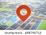 3d map of city with navigator... | Shutterstock . vector #688796713