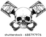 graphic detailed black and... | Shutterstock .eps vector #688797976