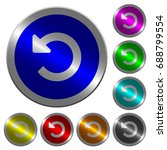 undo changes icons on round... | Shutterstock .eps vector #688799554
