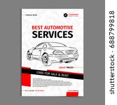 automotive services layout... | Shutterstock .eps vector #688799818